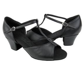 C801 Black Leather Dance Shoe