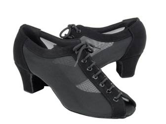 C1643 Black Nubuck & Black Mesh, Lace up